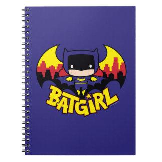 Chibi Batgirl With Gotham Skyline & Logo Note Books
