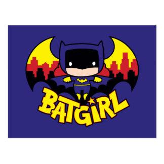 Chibi Batgirl With Gotham Skyline & Logo Postcard