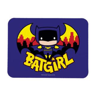 Chibi Batgirl With Gotham Skyline & Logo Rectangular Photo Magnet