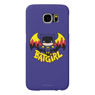 Chibi Batgirl With Gotham Skyline & Logo Samsung Galaxy S6 Cases
