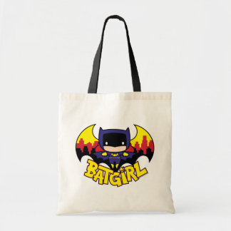 Chibi Batgirl With Gotham Skyline & Logo Tote Bag
