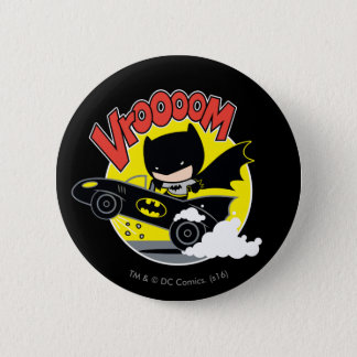Chibi Batman In The Batmobile 2 Inch Round Button