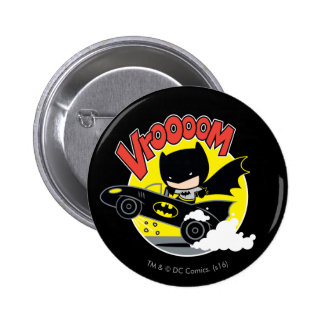 Chibi Batman In The Batmobile 2 Inch Round Button