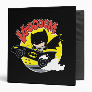 Chibi Batman In The Batmobile Binders