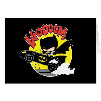 Chibi Batman In The Batmobile Card