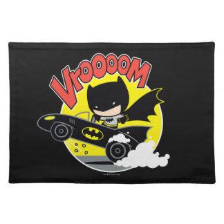 Chibi Batman In The Batmobile Placemat