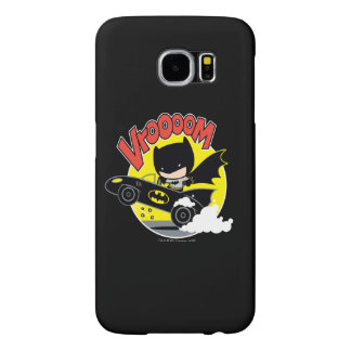 Chibi Batman In The Batmobile Samsung Galaxy S6 Cases