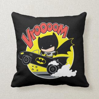 Chibi Batman In The Batmobile Throw Pillow