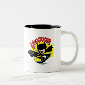 Chibi Batman In The Batmobile Two-Tone Coffee Mug