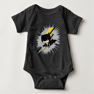 Chibi Batman Lightning Kick Baby Bodysuit