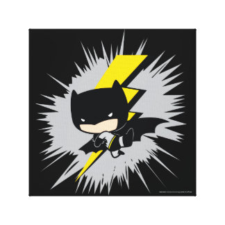 Chibi Batman Lightning Kick Canvas Print