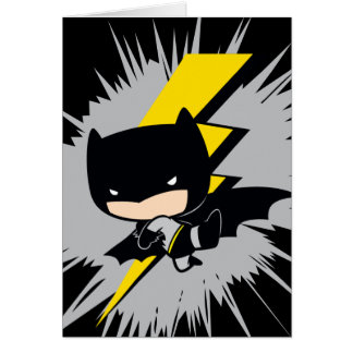 Chibi Batman Lightning Kick Card