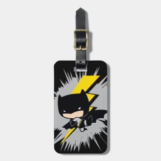 Chibi Batman Lightning Kick Luggage Tag
