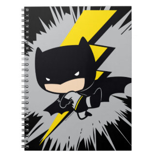 Chibi Batman Lightning Kick Notebook