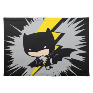 Chibi Batman Lightning Kick Placemat