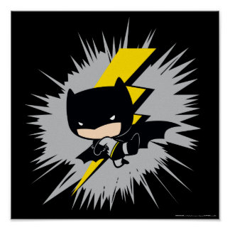 Chibi Batman Lightning Kick Poster