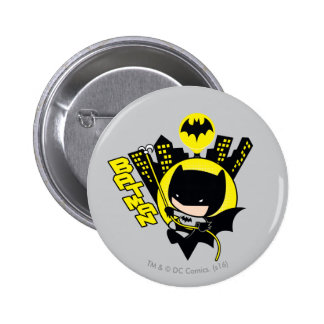 Chibi Batman Scaling The City 2 Inch Round Button