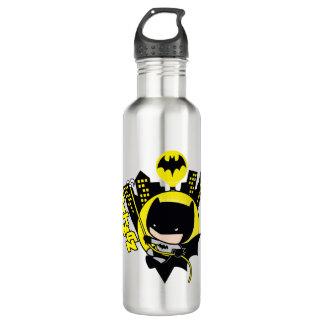 Chibi Batman Scaling The City 710 Ml Water Bottle