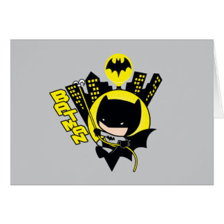 Chibi Batman Scaling The City Card