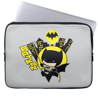 Chibi Batman Scaling The City Laptop Sleeve
