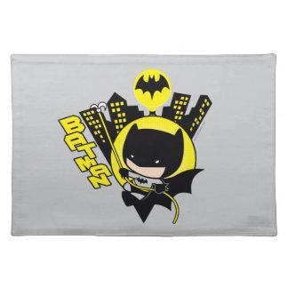 Chibi Batman Scaling The City Placemat