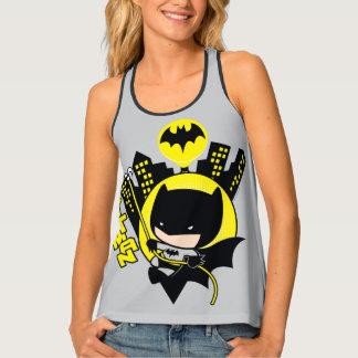 Chibi Batman Scaling The City Tank Top