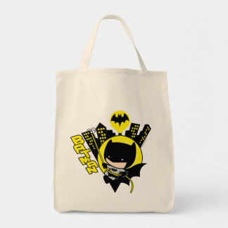 Chibi Batman Scaling The City Tote Bag