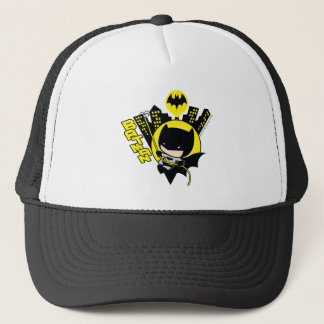 Chibi Batman Scaling The City Trucker Hat
