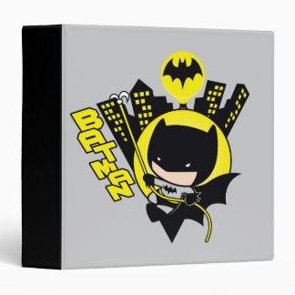 Chibi Batman Scaling The City Vinyl Binder