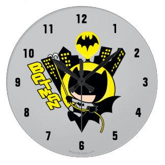 Chibi Batman Scaling The City Wallclock