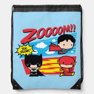 Chibi Batman Too Slow! Drawstring Bag