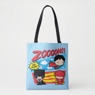 Chibi Batman Too Slow! Tote Bag