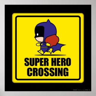 Chibi Batwoman Super Hero Crossing Sign
