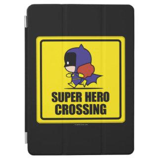 Chibi Batwoman Super Hero Crossing Sign iPad Air Cover