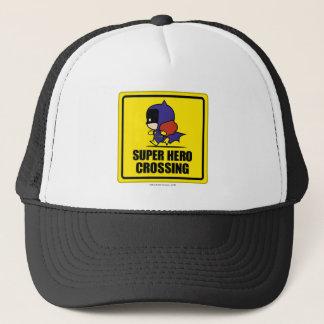 Chibi Batwoman Super Hero Crossing Sign Trucker Hat