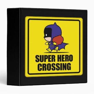 Chibi Batwoman Super Hero Crossing Sign Vinyl Binders