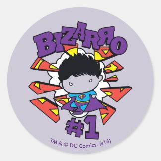 Chibi Bizarro #1 Round Sticker