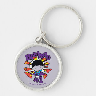 Chibi Bizarro #1 Silver-Colored Round Keychain