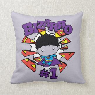 Chibi Bizarro #1 Throw Pillow