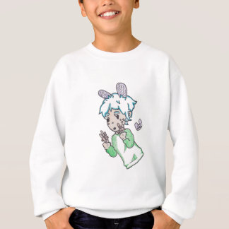 Chibi boy with a handful of pocky sticks sweatshirt