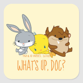 Chibi BUGS BUNNY™, TWEETY™, & TAZ™ Square Sticker