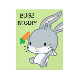 Chibi BUGS BUNNY™ With Carrot Canvas Print