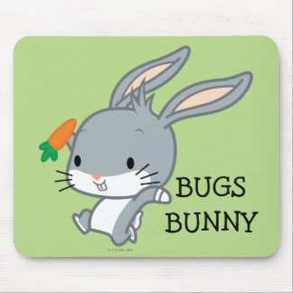 Chibi BUGS BUNNY™ With Carrot Mouse Pad