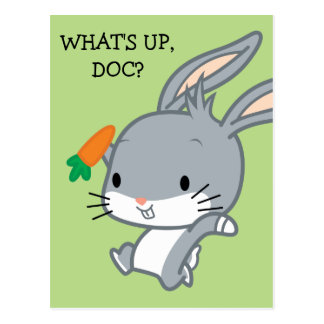 Chibi BUGS BUNNY™ With Carrot Postcard