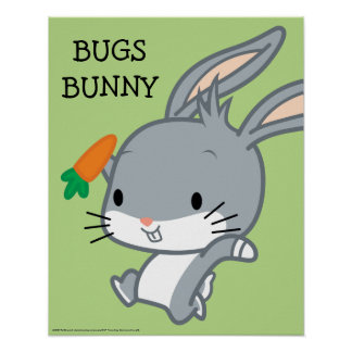 Chibi BUGS BUNNY™ With Carrot Poster