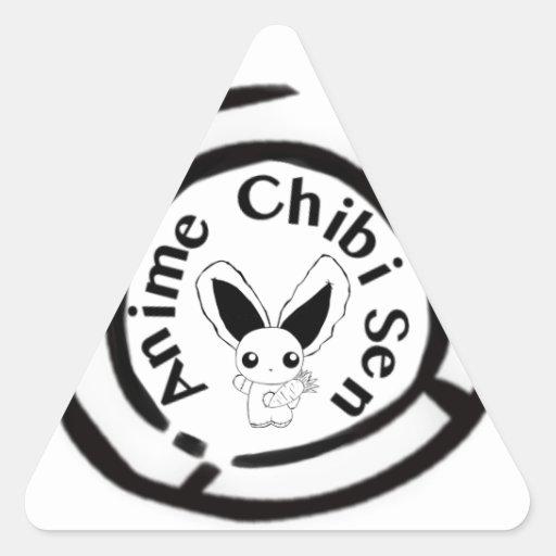Chibi Bunny Triangle Stickers
