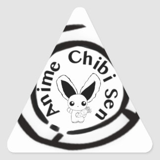 Chibi Bunny Triangle Sticker