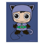 Chibi Cat Woman Poster