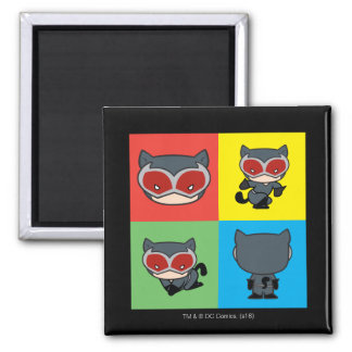 Chibi Catwoman Character Poses Magnet