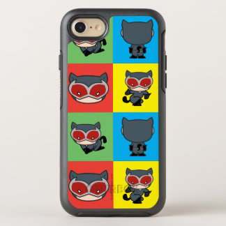 Chibi Catwoman Character Poses OtterBox Symmetry iPhone 8/7 Case